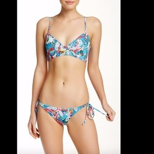 NWT Beach Riot Wrap Bikini Top + tie side bottoms